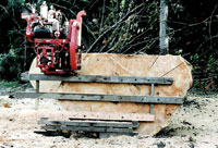 Board and block method of portable sawmilling